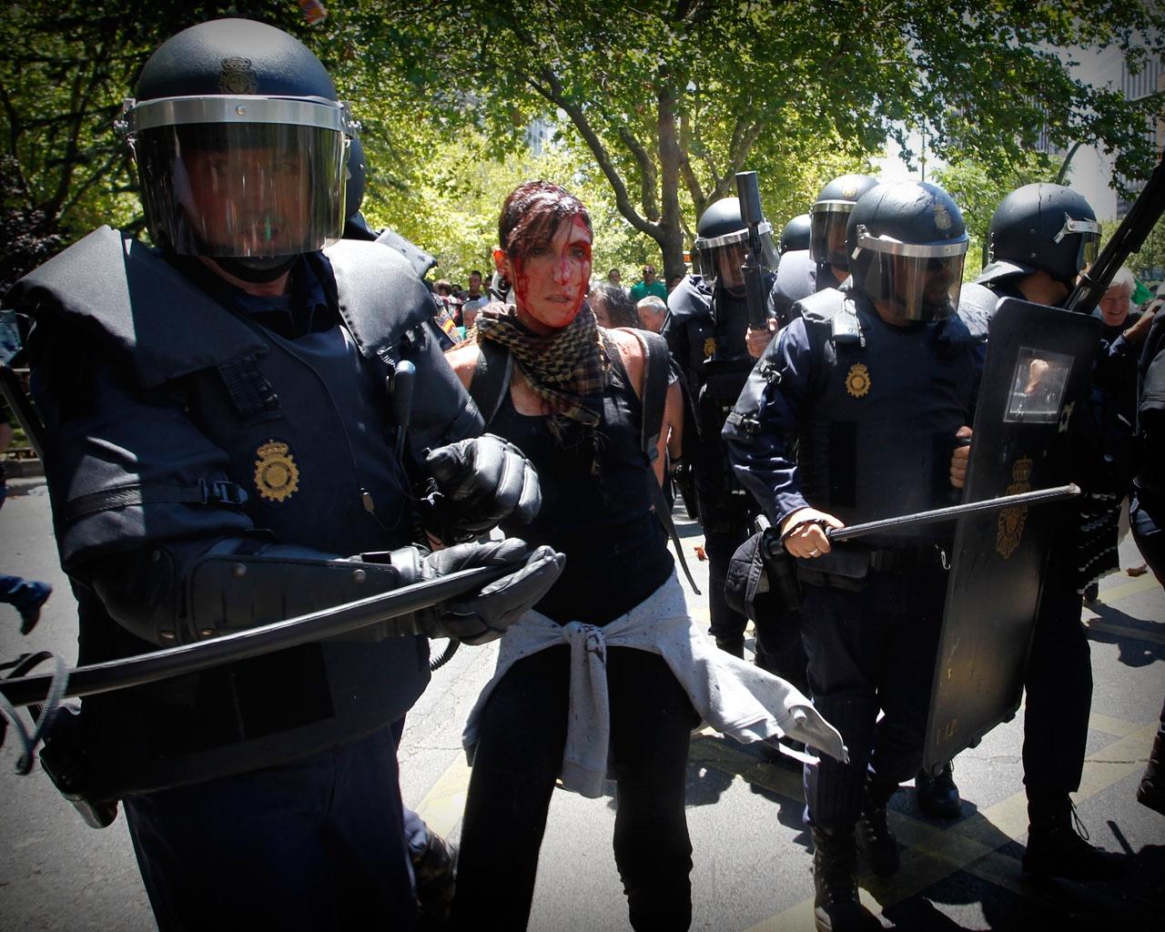 Manifestación minera en Madrid.