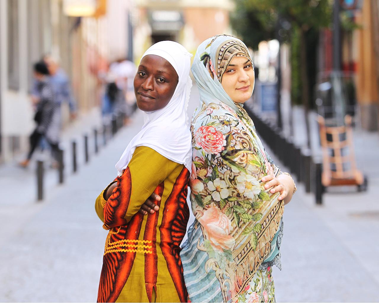 Kadiatu Massaquoi y Hadiqa Bashir, dos jóvenes víctimas de matrimonios forzosos y activistas contra esta violación de los derechos humanos. Madrid. 09/10/2019.