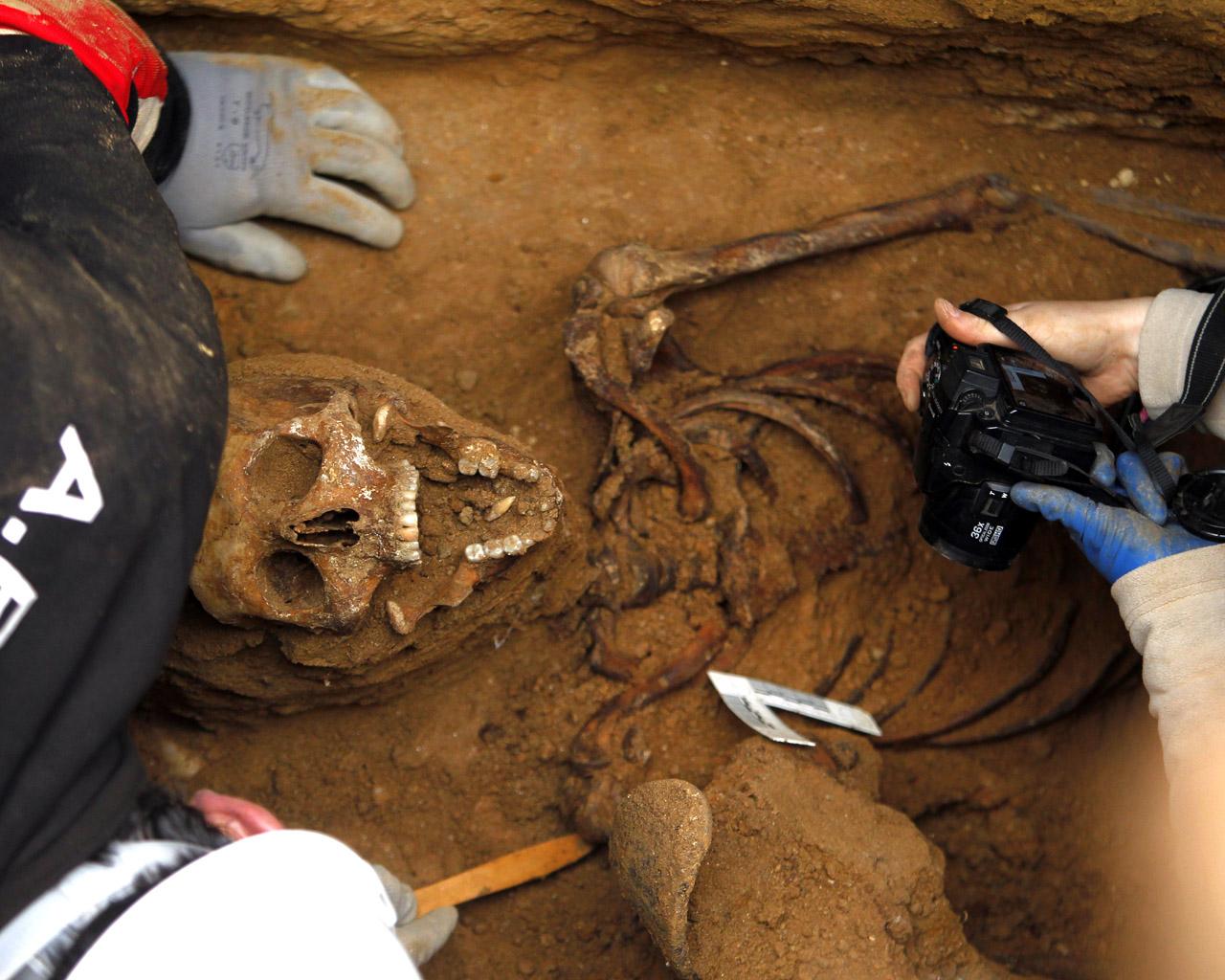 Exhumación Timoteo Mendieta