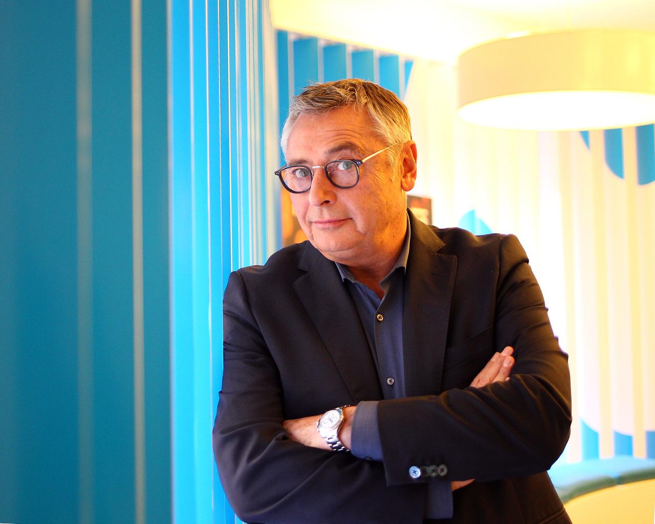 """Michael Robinson, fotografiado en Madrid en la presentación de """"Informe Robinson"""". 26/10/2017."""