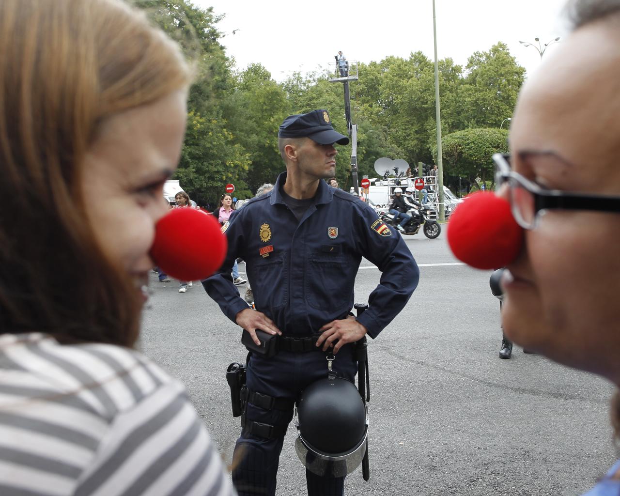 Protestas ciudadanas junto al Congreso de los Diputados