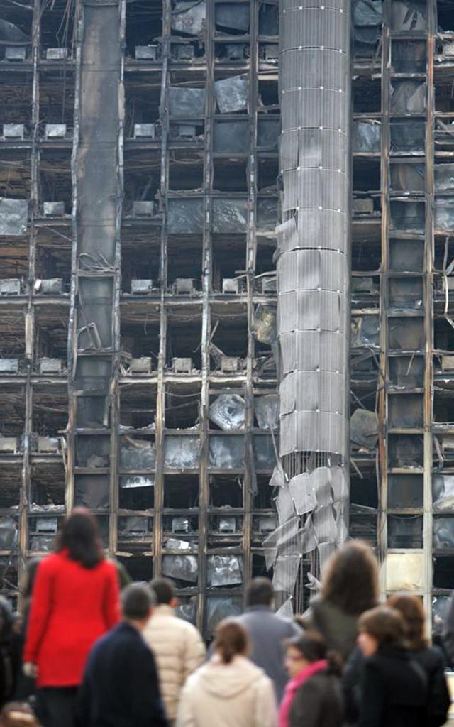 Restos del incendio del edificio Windsor
