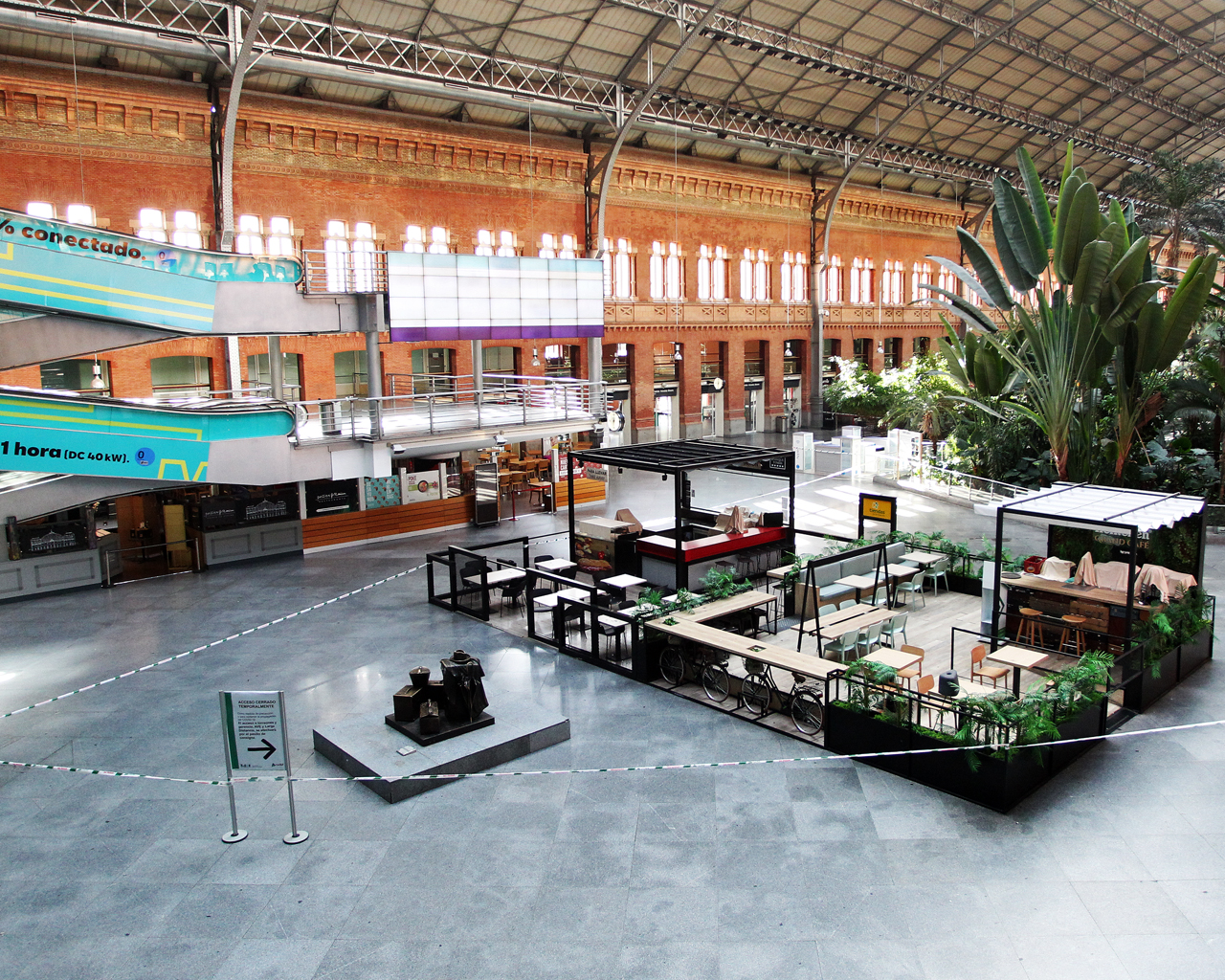Estación de Atocha. Madrid. 13/04/2020.