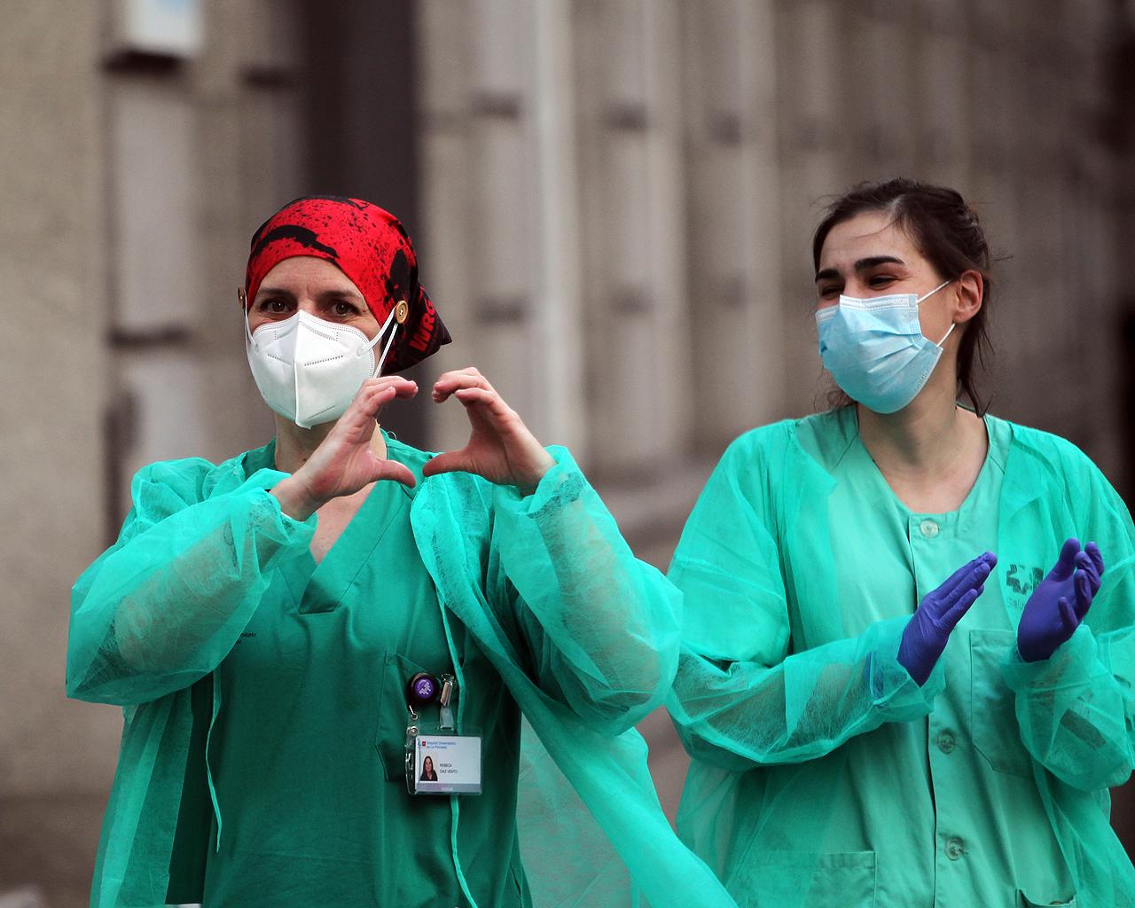 Personal sanitario del Hospital de la Princesa. Madrid. 14/04/2020.