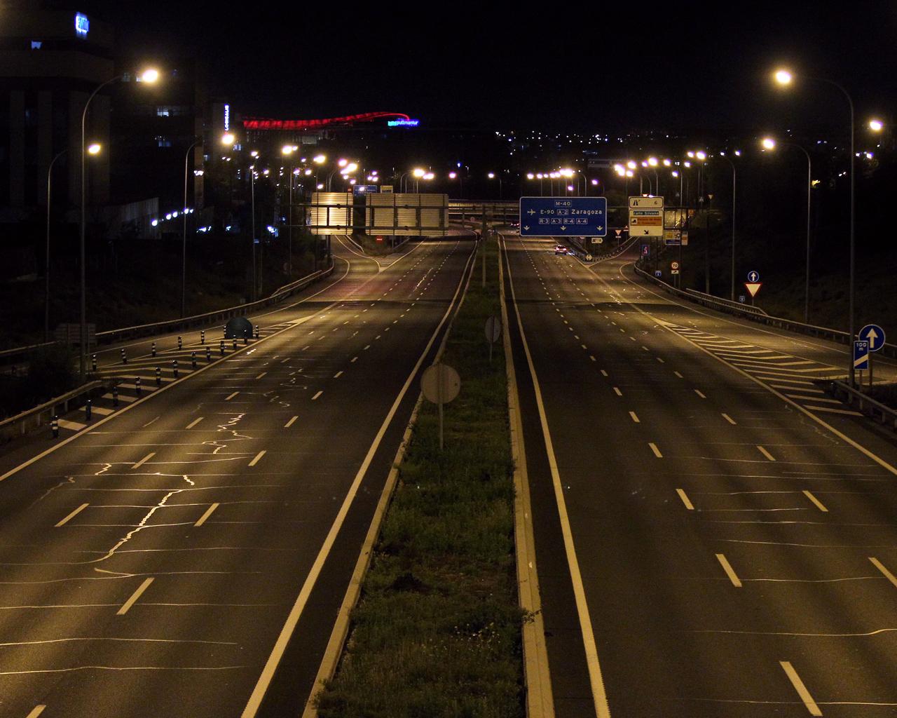 Carretera M40. Madrid. 05/04/2020.