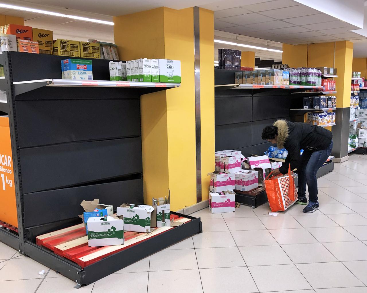 Desabastecimiento en supermercados. Madrid. 10/03/2020.