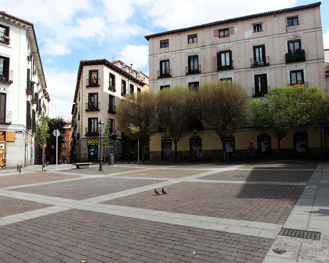 Plaza de San Ildefonso. Madrid. 24/03/2020.