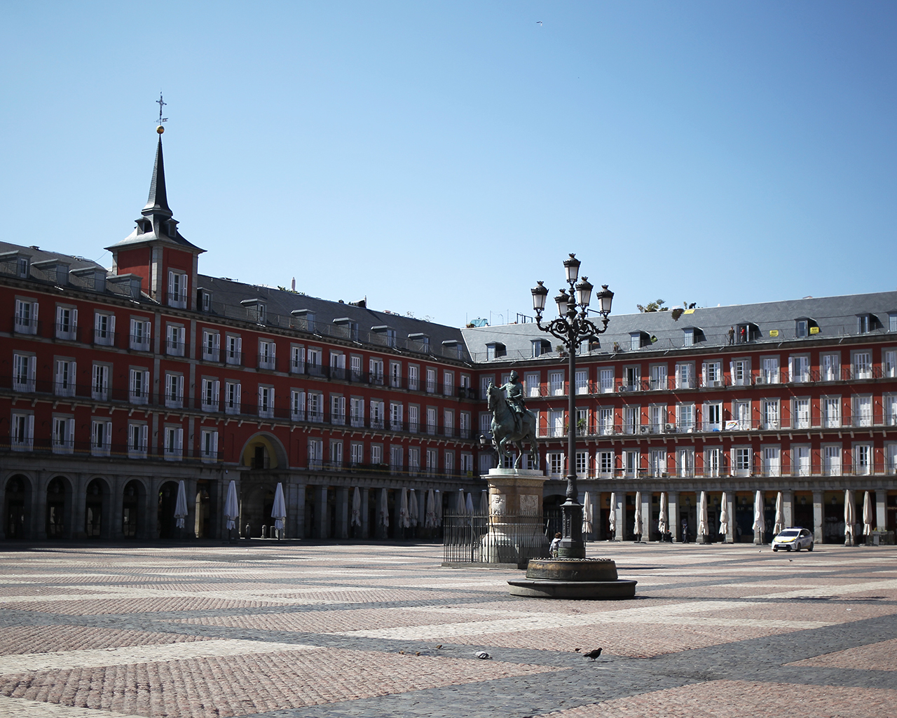 Plaza Mayor. Madrid. 25/03/2020.
