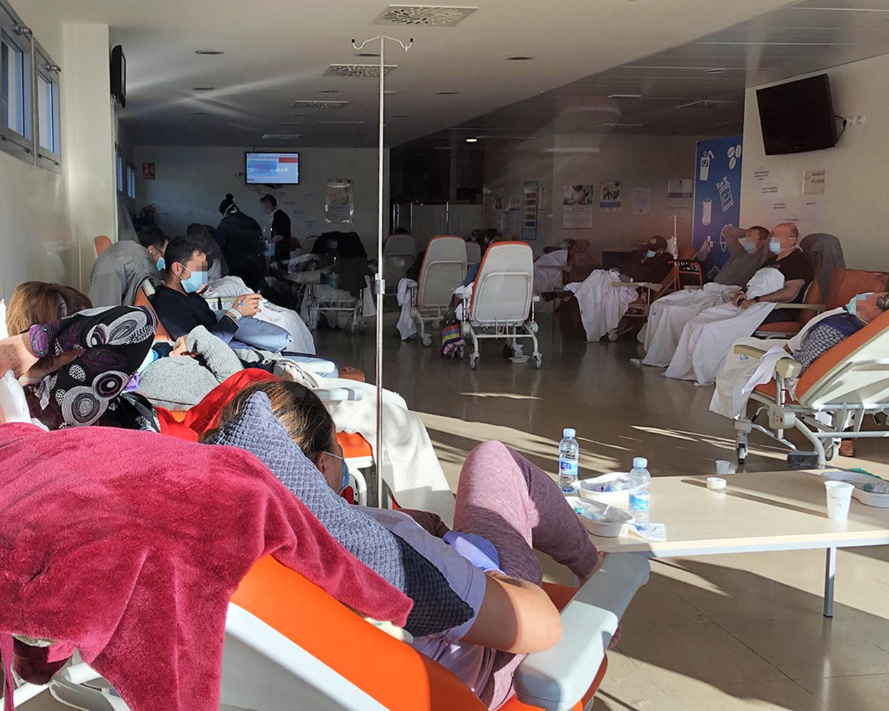 Sala de Urgencias del hospital Infanta Sofía, en San Sebastián de los Reyes. Madrid. 26/03/2020.