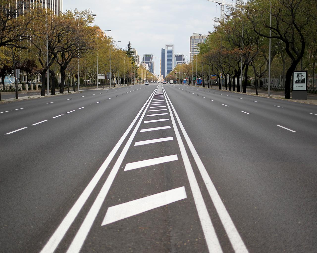 Paseo de la Castellana. Madrid. 30/03/2020.