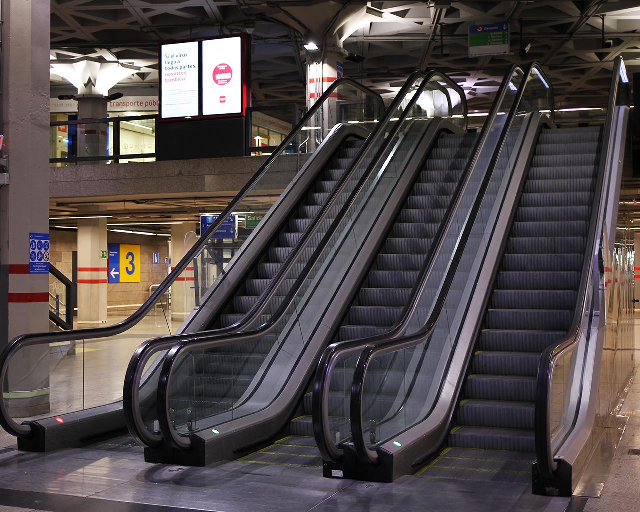 Intercambiador de Metro de Puerta del Sol. Madrid. 30/03/2020.