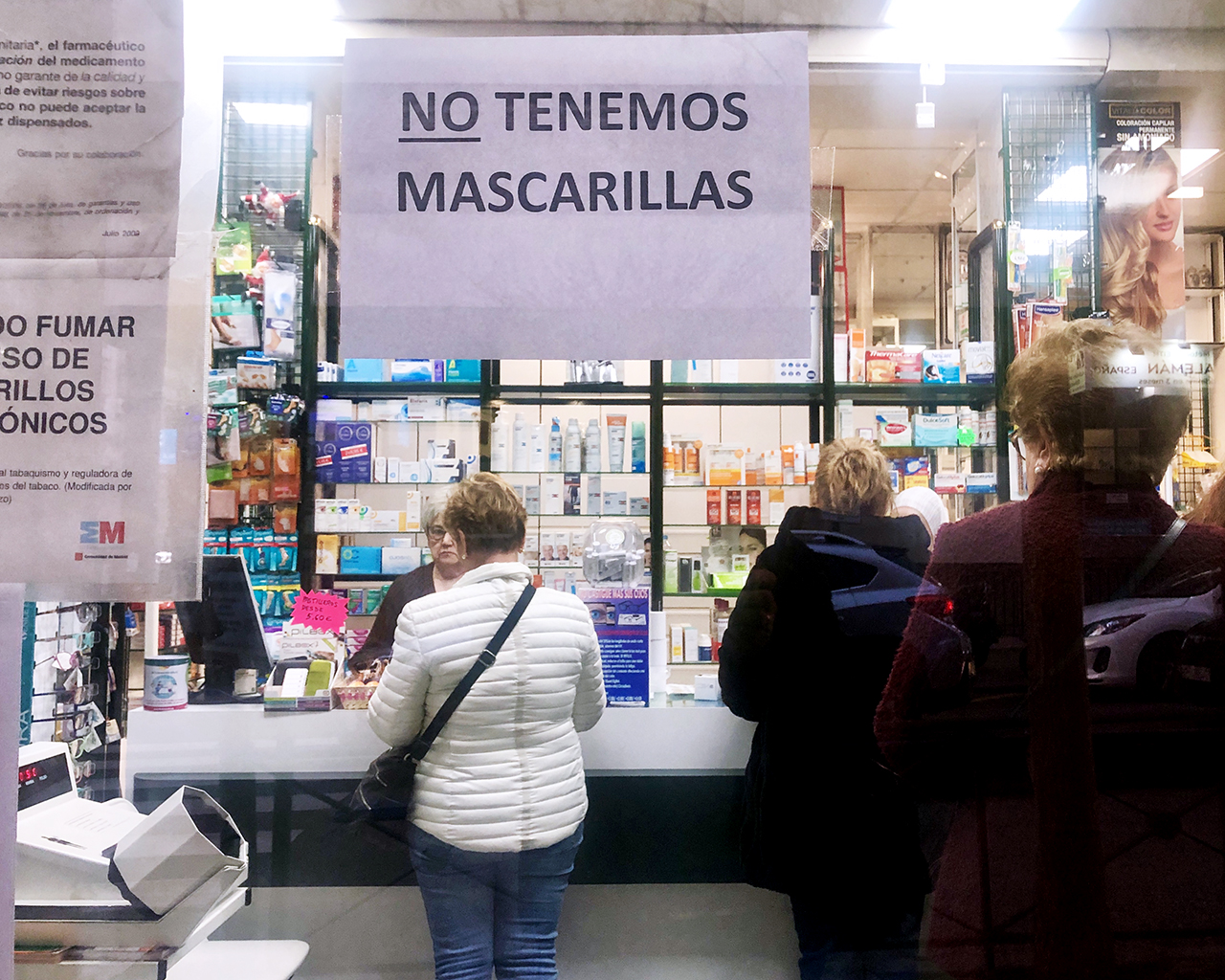 Farmacias sin mascarillas. Madrid. 05/03/2020.
