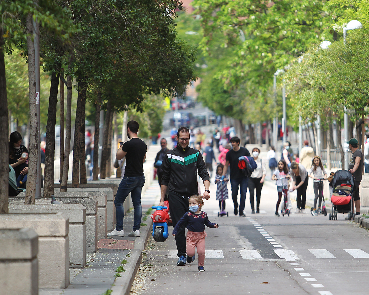 Primer día de desconfinamiento infantil. Madrid. 26/04/2020.