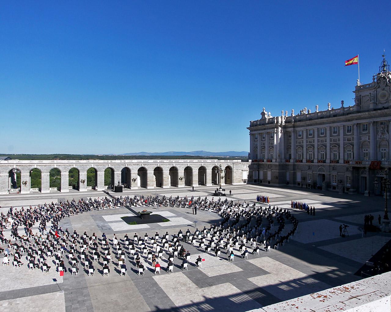 Homenaje de Estado a las víctimas de la Covid19. Madrid. 16/07/2020.