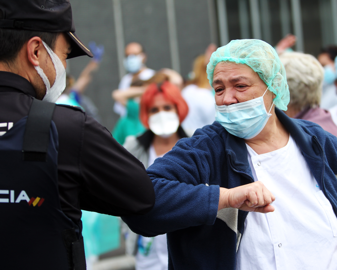 Personal sanitario en el hospital La Paz. Madrid. 20/04/2020.