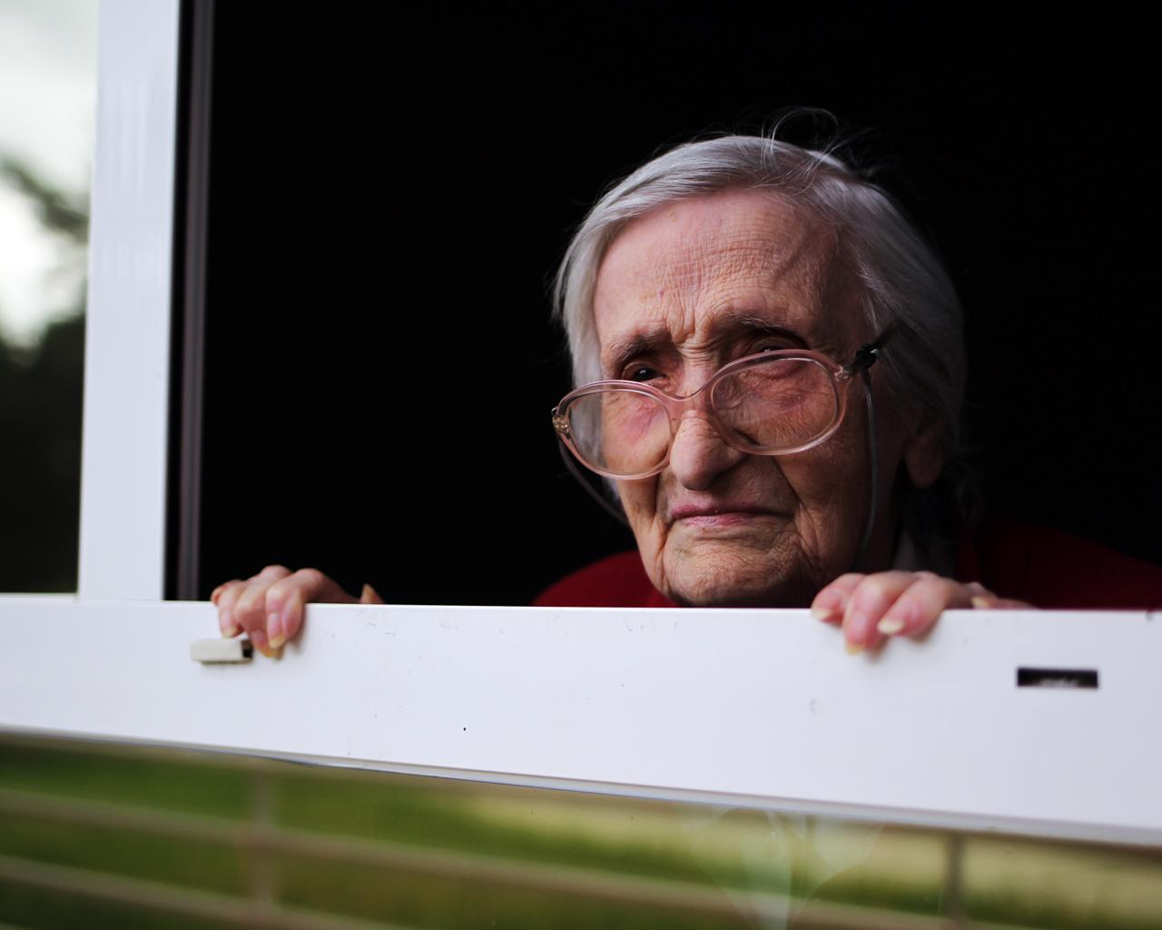 Margarita ha superado el coronavirus con 98 años. Vive en una residencia de ancianos a las afueras de Madrid. 16/04/2020.