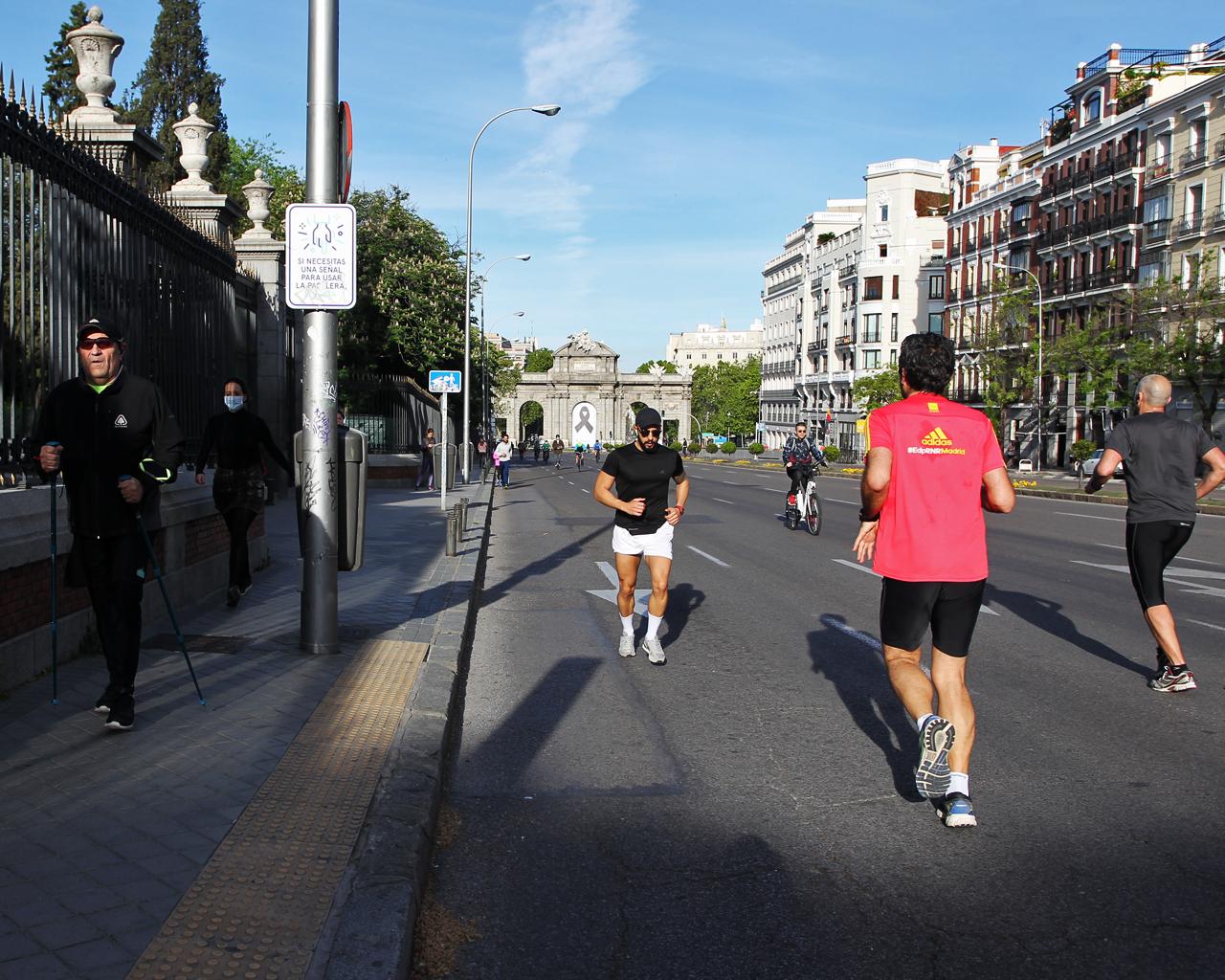 Corredores tras el confinamiento, en Madrid. 03/05/2020.